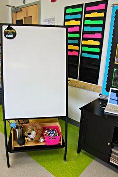 Black and neon ... love the black file folders