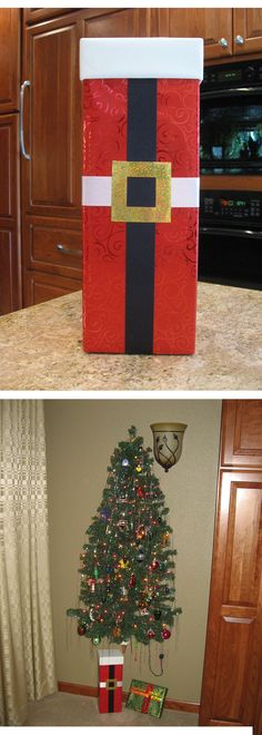 Santa Suit Wrapping - I saw a similar idea from another pinner and just had to try it. I love it