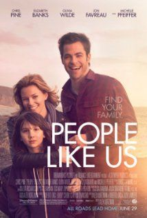 People Like Us will have to fight for attention and word of mouth. But it's a very satisfying departure from the loud, crazy, crude, animated, 3D, superhero, star-studded or simply bizarre flicks that tend to dominate the summer box office. It's a nice adult-themed PG-13 drama/comedy that's inspired by true events, which makes it all the more intriguing.