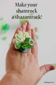 DIY shazamrock pops for St. Patrick's Day - NoBiggie.net #stpatricksday