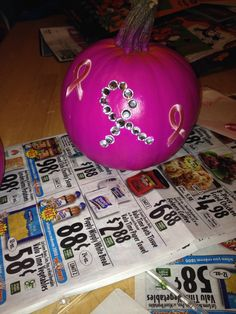 Pink pumpkin for breast cancer awareness month