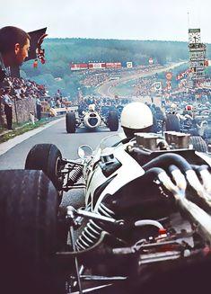 starting grid, 60's Formula 1, Spa