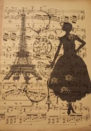 Oud muziekpapier Parijs