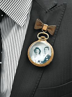 In lieu of a boutonniere, why not commemorate your family?