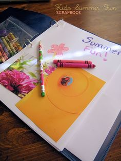 Kids Summer Fun DIY Scrapbook #crafts #kids #diy #summer