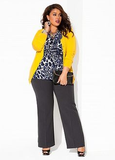 Simple, elegant work outfit from Ashley Stewart #plus_size_fashion
