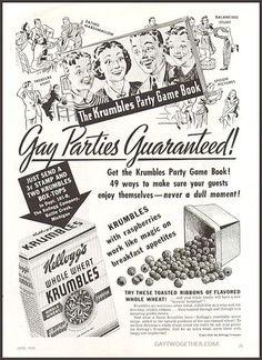 Vintage Gay Impressions - Advertisement - Circa 1939 GAYTWOGETHER.COM
