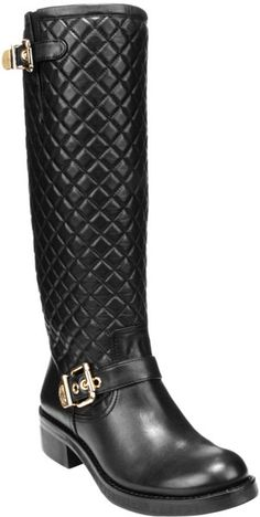Vince Camuto ~ Wenters Tall Leather Quilted Riding Boots