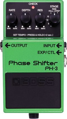 """BossPH-3 Phase Shifter Pedal: I used to have one of these. Probably not the exact one, but VERY close.  I made the foolish mistake of getting rid of most of my foot pedals (except for my Crybaby Wah) around 1992 in favor of an """"all inclusive"""" (yeah, right) digital rack mount thing.  Like I said, it was a mistake. I still have some old archived cassette recordings of some stuff I did w/ this pedal. Made some awesome sounds."""