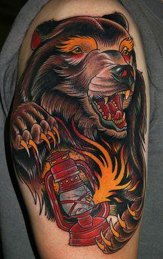 Stefan Johnsson Bear Tattoo Picture