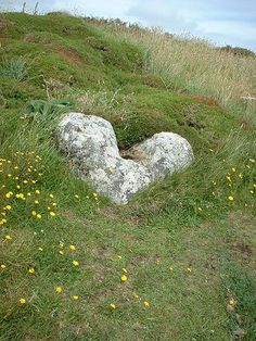 .A rock formed in the shape of a heart. Thank you mother nature.