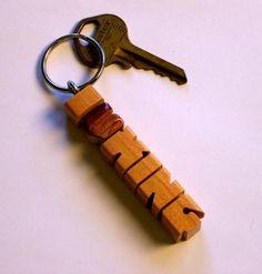 Inlaid iHeart Keychain - Cherry Wood by DustyNewtKeychains for $10.00