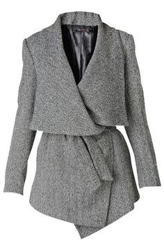 Raxevsky Fatima Grey Asymmetrical Jacket.