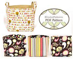 fairytale frocks and lollipops::blissful patterns, fabric bin, e-pattern, downloadable sewing pattern, pdf sewing pattern