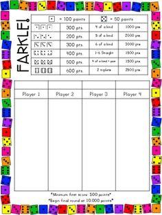 Free yahtzee score sheets pictures to pin on pinterest - Bunco Farkle On Pinterest 25 Pins