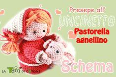 #Schema #Presepe all' #uncinetto #pastore #pecorella
