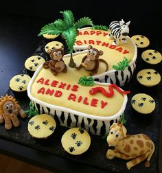 Jungle Themed Cake |Pinned from PinTo for iPad|