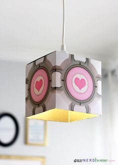 Companion cube lamp shade   Probability would actually do this: .2