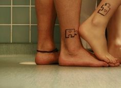 Check out Puzzles from Cool Matching Tattoos for Couples