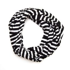 Classic Black + White Infinity Scarf #scarf #accessories