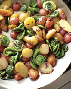 Fiddlehead Fern and Potato Hash | Whole Living