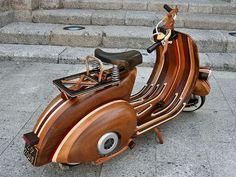 carlo alberto, motorcycl, bike, wheel, vespas, scooters, wooden vespa, design, woodenvespa