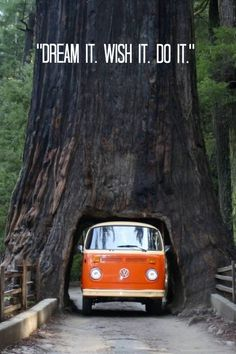 """""""Dream it. wish it. do it."""" Click to buy an inspirational plaque like this... #VW #Camper #Inspiration"""