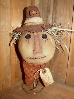 My Primitive SAMMY SCARECROW Instant Download Pattern