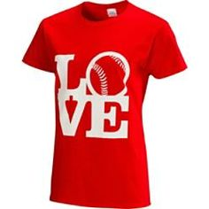 """Team Express Gear Womens """"Love"""" Softball T-Shirt   BaseballExpress.com"""