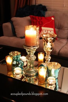 Christmas coffee table decor - my house