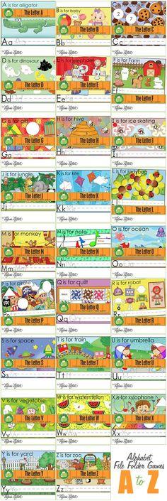 Alphabet File Folder Games!