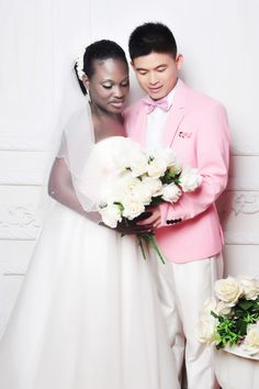 American Celestereille and her Chinese hubby -- they just got married in China!