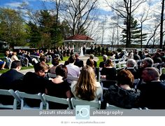 A beautiful day for an outdoor ceremony at Luciano's at Lake Pearl.