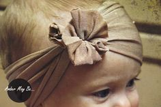 Ridiculously Easy Baby Headband tutorial – no sewing required