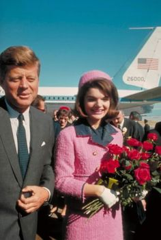 John and Jackie Kennedy at Love Field in Dallas, Texas, on November 22, 1963