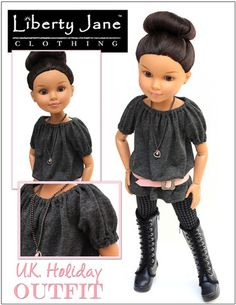 "U.K. Holiday Outfit for BFC, Ink. Dolls. {idea with modifications for 18"" AG doll}"