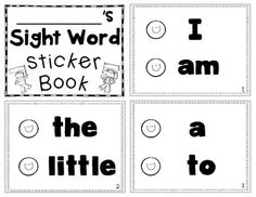 Reading Street Sight Word Sticker Book {All 40 Words}