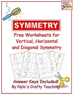 Students can find the lines of symmetry by cutting out the shapes and folding them in half to form a mirror image. On a fresh coy of the same worksheet, they can now draw in the lines of symmetry that they discovered from the folding activity on the shapes provided.
