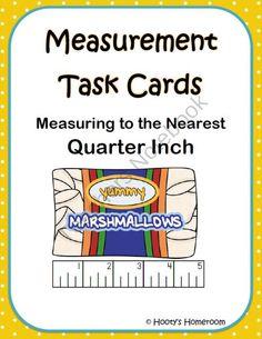 Measurement Task Cards - Nearest Quarter Inch product from HootysHomeroom on TeachersNotebook.com