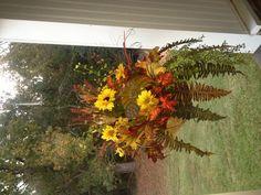 Beautiful fall hanging basket