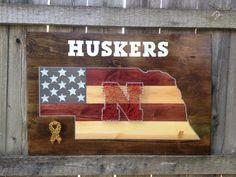 Nebraska Huskers String Art