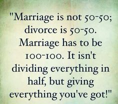 Marriage 100%
