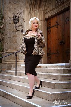 Faux Leopard Swing Coat by Laura Byrnes