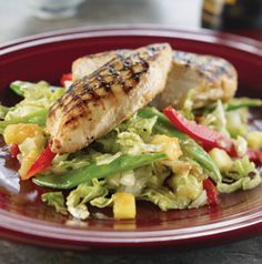 Everybody needs a recipe for Asian Chicken Salad. It's just a staple! This recipe is really easy. Grill the chicken ahead of time and assemble just before you're ready to eat.