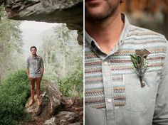 wilderness and weddings - From Green Wedding Shoes. The groom styling! Love.