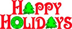 #Christmas Word Art Happy Holidays Graphic