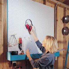 Garage Storage Projects: Pegboard Storage and Bin