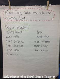 Various ELA anchor charts