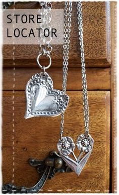 Jewelry from silver spoon. most silverware jewelry I don't like, but love