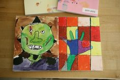 """Brilliant way to """"save"""" kids' art projects in a non-cluttery way my.life.at.playtime."""